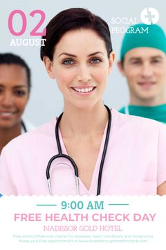 Health Check Invitation Smiling Female Doctor