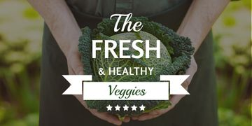 Fresh veggies with farmer