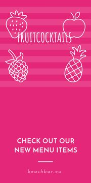 Fruit cocktails banner