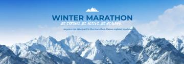 Winter Marathon Announcement Snowy Mountains