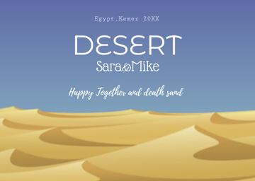 Desert illustration with Sandy Mounds