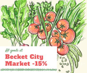 City Market Sale Fresh Vegetables