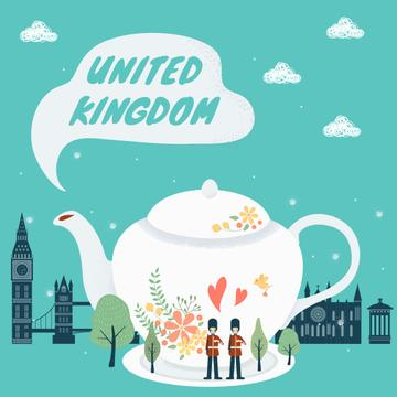 United Kingdom travelling symbols