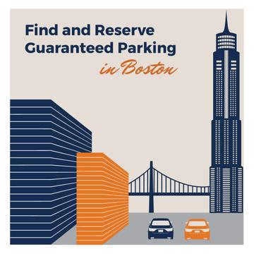 Parking Ad with cars in City