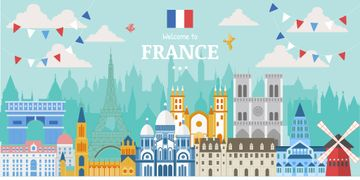 Welcome to France illustration