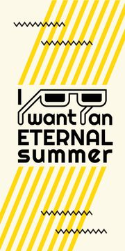 Eternal summer graphic poster