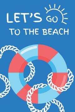 Summer Trip Offer Floating Ring in Blue