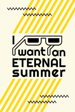 Summer Inspiration Sunglasses on Graphic Background