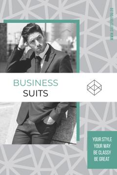 Business suits sale advertisement