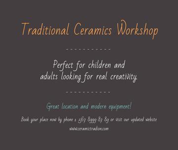 Traditional Ceramics Workshop promotion