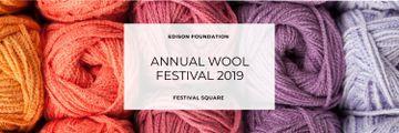 Knitting Festival Invitation Wool Yarn Skeins