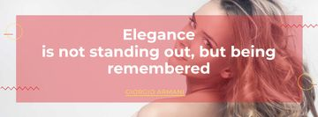 Elegance Quote with Beautiful Young Woman