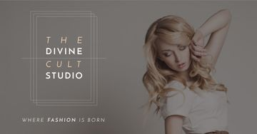 Fashion Studio Ad with Attractive Blonde