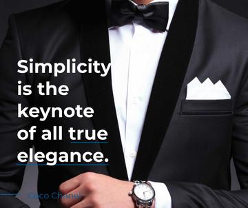 Elegance Quote Businessman Wearing Suit