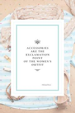 Citation about women's Accessories
