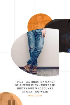 Citation about clothing as way of self-expression