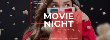 Movie Night Event with Woman in Glasses