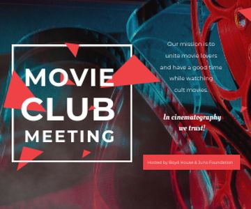 Movie club meeting
