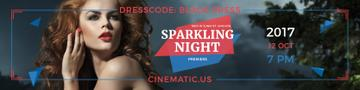 Sparkling night party Invitation
