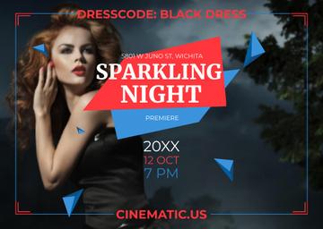 Film Night Event Invitation