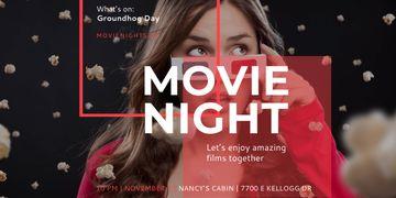 Movie night event poster