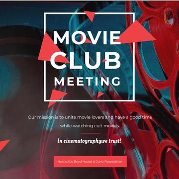 Movie Club Meeting Vintage Projector