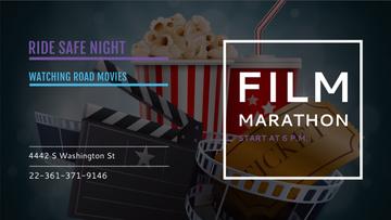 Movie Night Invitation with Cinema Attributes