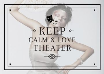 Theater Quote Woman Performing in White