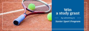 Sport Program Grant Offer Tennis Racket on Court
