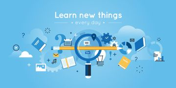 learn new things every day, creative thinking concept