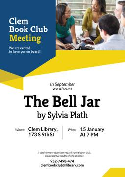 Book club meeting Invitation