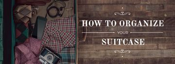 Tips How to organize suitcase