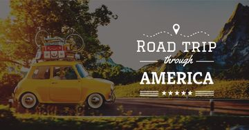 Road trip trough America Offer with Vintage Car