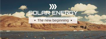 Energy Solar Panels in Desert