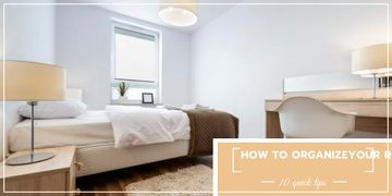 Organizing room tips banner
