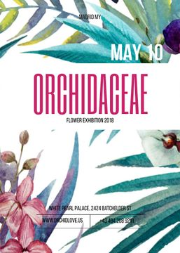 Orchid flowers exhibition announcement