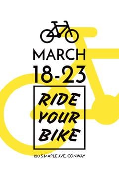 Cycling Event announcement with simple Bicycle Icon