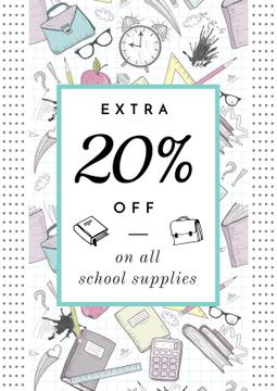 School supplies sale advertisement