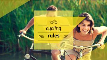 Cycling rules poster