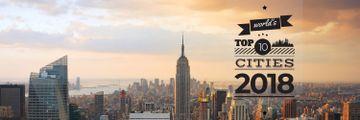 World's top 10 cities 2018 banner