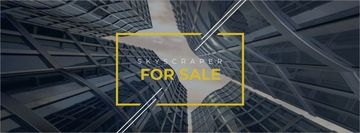 Skyscrapers for sale background