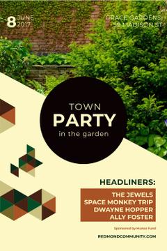 Town party in garden