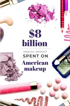 Makeup statistics with cosmetic products