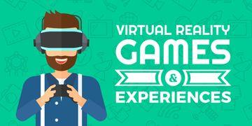 Virtual reality games poster