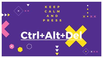 Keep calm purple poster