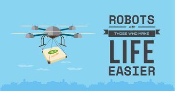 Robots make life easier Innovation concept