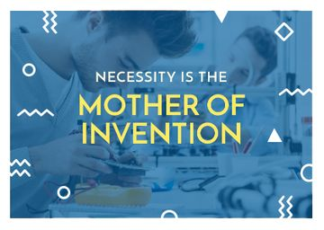 necessity is the mother of invention poster