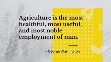Agricultural Quote with Ears of Wheat in Field