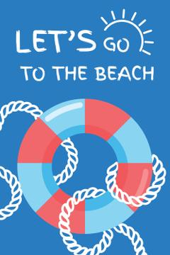 Summer Trip Offer with Floating Ring in Blue