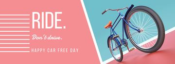Happy Car Free Day with bicycle